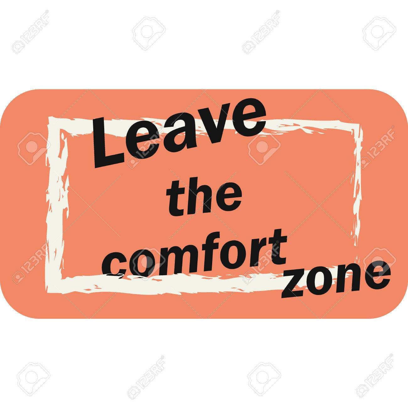 Leave the comfort zone typographic poster..