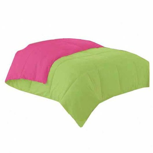 Simple Luxury Down Alternative Reversible Comforter in Hot Pink.
