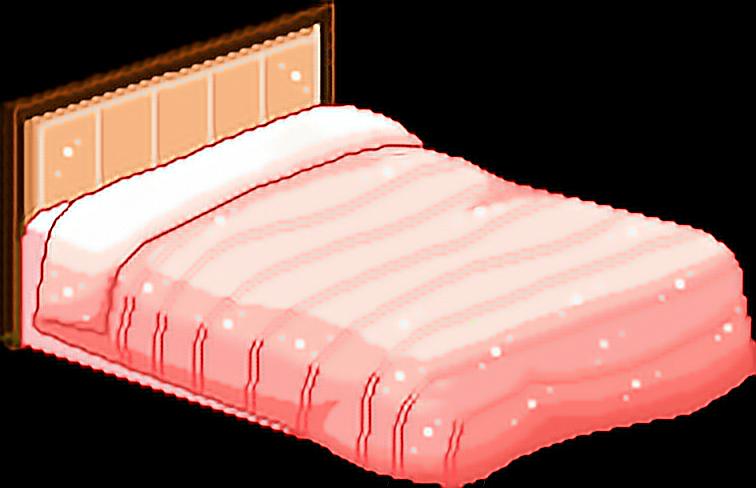 bedroom furniture bed sleepy comfy cosy kawaii pixel.