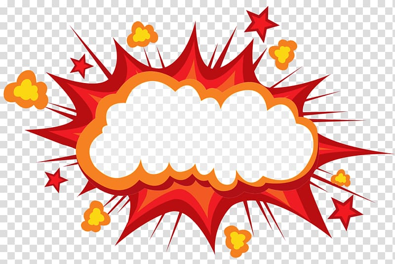 Cartoon Explosion Comics Comic book, Explode the mushroom cloud to.