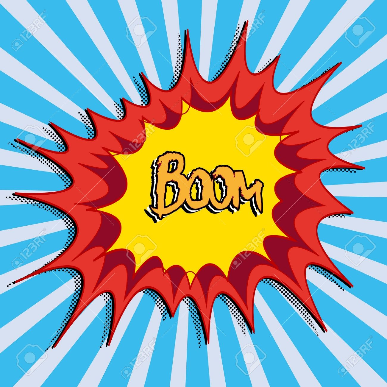 Comic Book Explosion Art Royalty Free Cliparts, Vectors, And Stock.