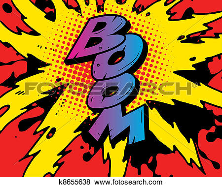 Clip Art of comic book explosion k8655638.