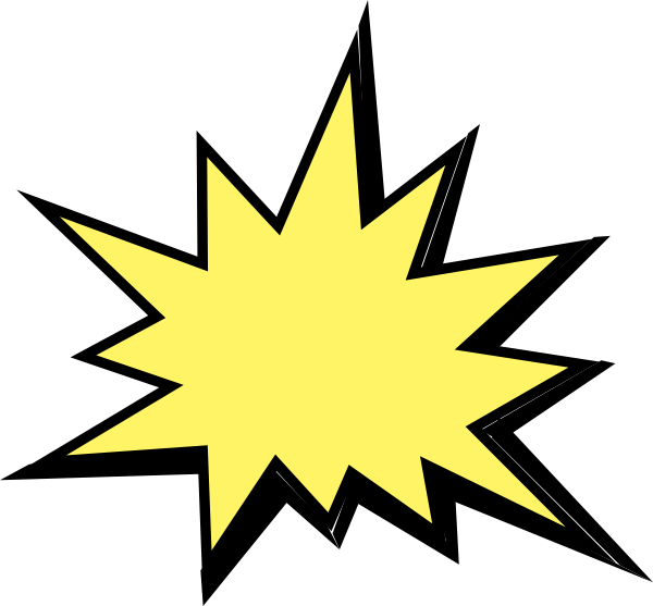 Comic Book Explosion Clipart.