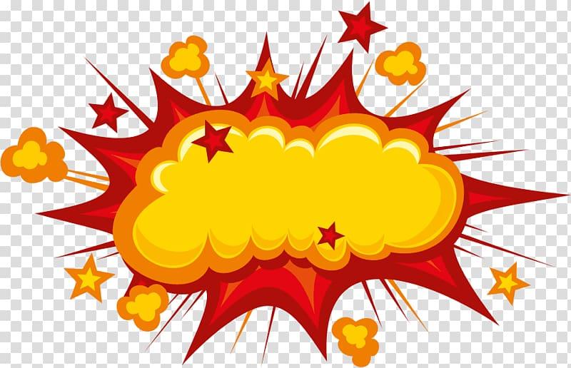 Cartoon Comics Comic book, explosions transparent background PNG.