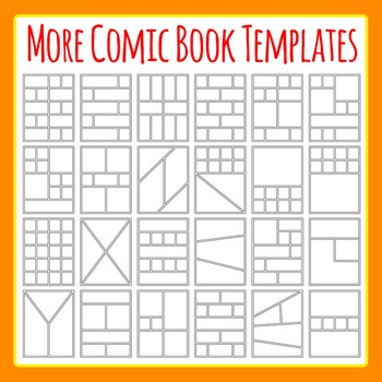 More Comic Book Templates / Graphic Novel Templates Clipart Commercial Use.