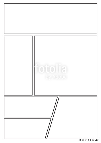 manga storyboard layout template for rapidly create the comic book.