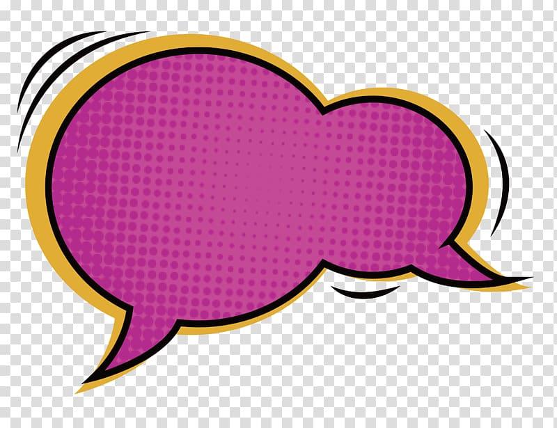 Pink and yellow quote box, Comics Dialog box Dialogue Speech balloon.