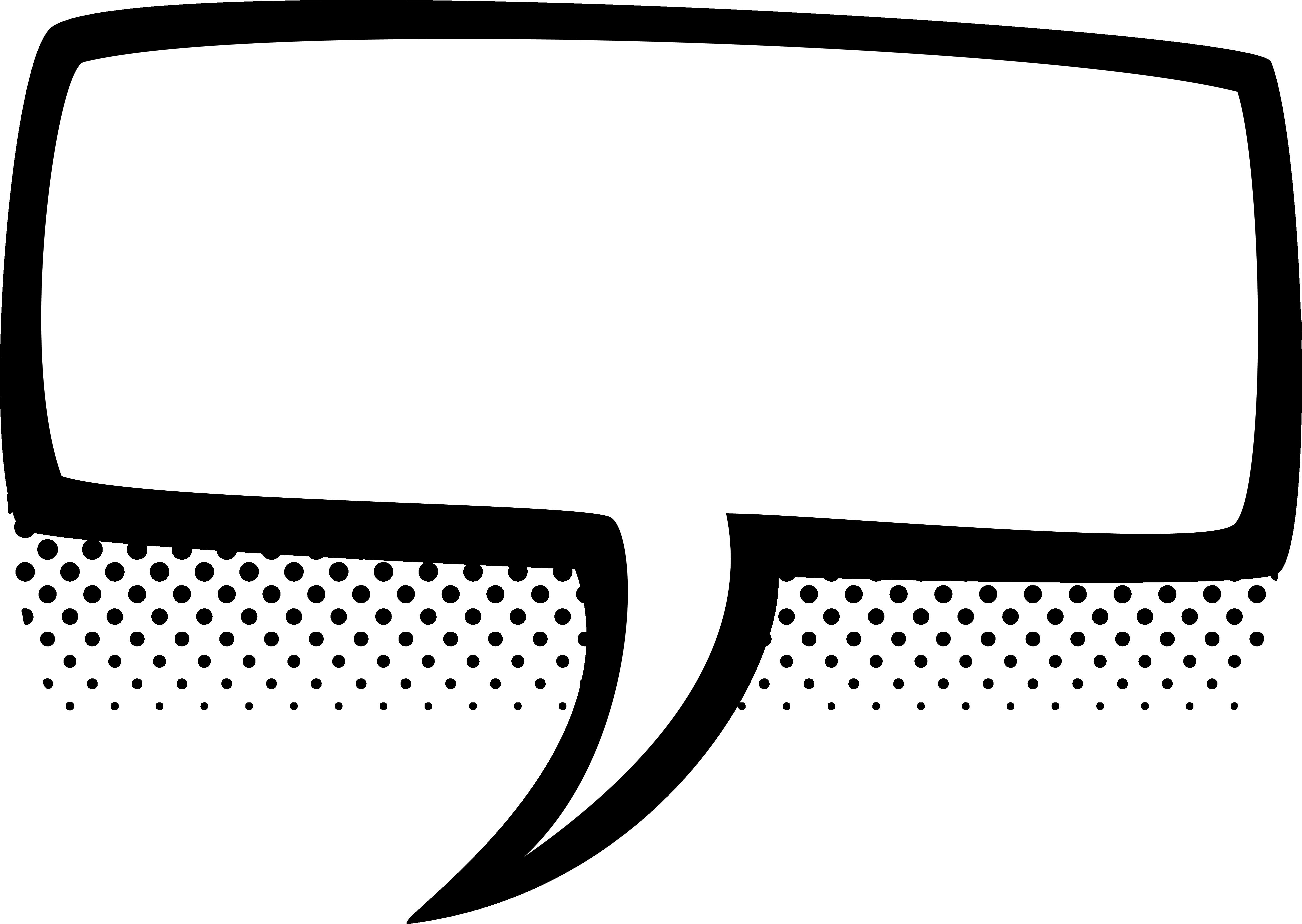 Black Box Empty Comic Bubbles Rain Clipart Png Image Download.