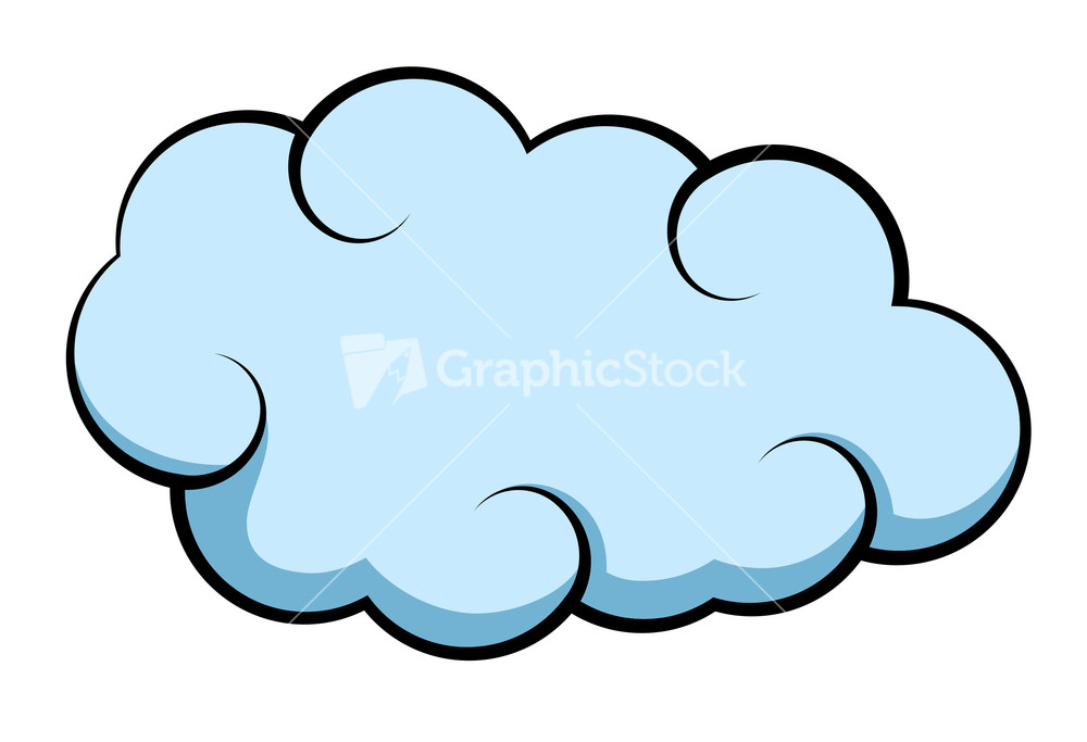Comic Cloud Vector Stock Image.