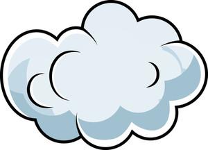 Cute Comic Cloud Cartoon Vector Stock Image.