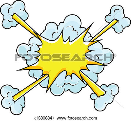 Clipart of Comic Clouds Bursting Vector k13808875.