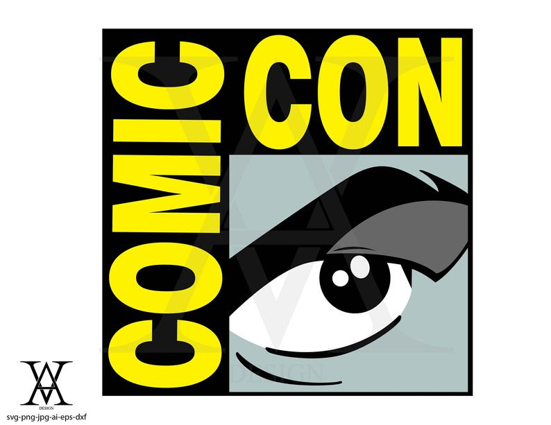 Comic Con, logo, vector, clipart. INSTANT DOWNLOAD, svg.