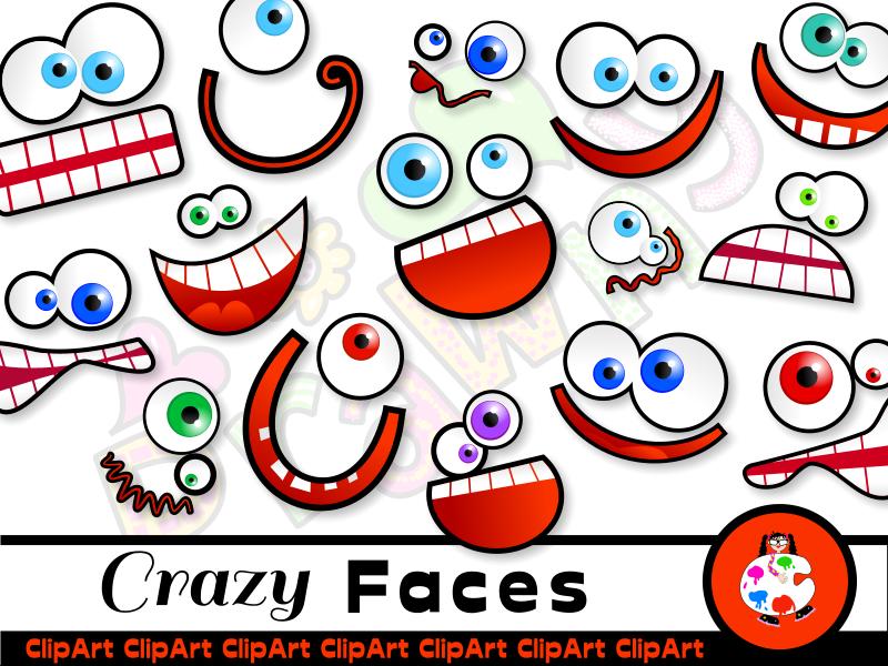 Silly Cartoon Face Clip Art.