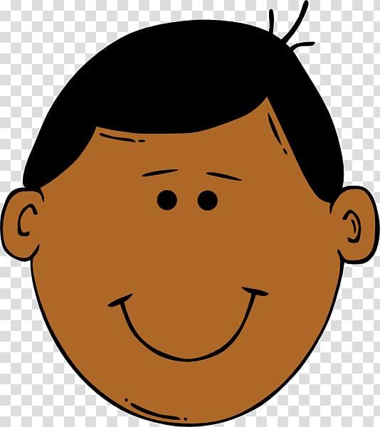 Face Boy Smiley , Cartoon Faces transparent background PNG.