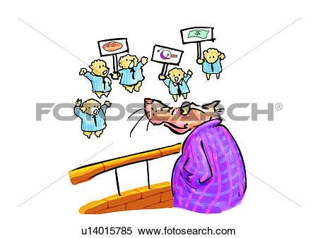 Stock Illustration of caricature, cartoon, comic, figure.
