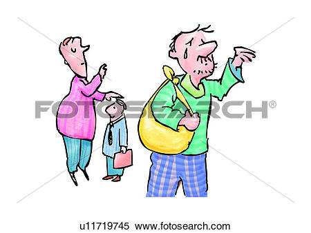 Stock Illustration of people, character, comic, role, figure.