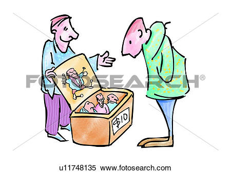 Stock Illustration of figure, cartoon, sell, character, comic.