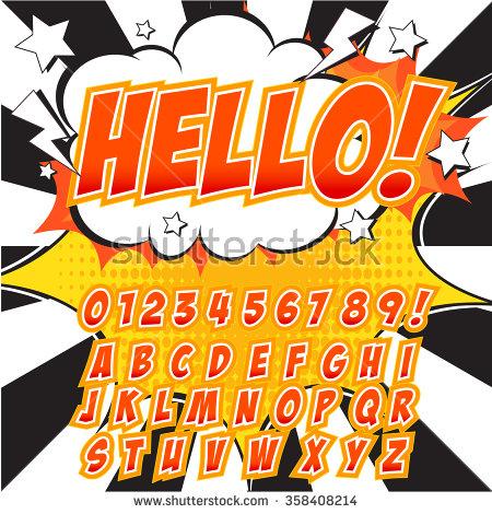 Comic Book Type Character Stock Vectors & Vector Clip Art.