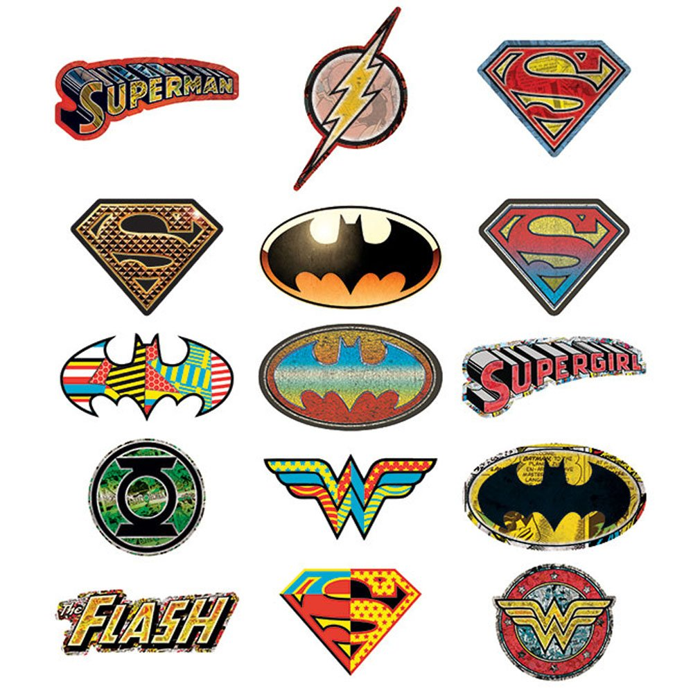 15 DC Comic Logo Stickers.