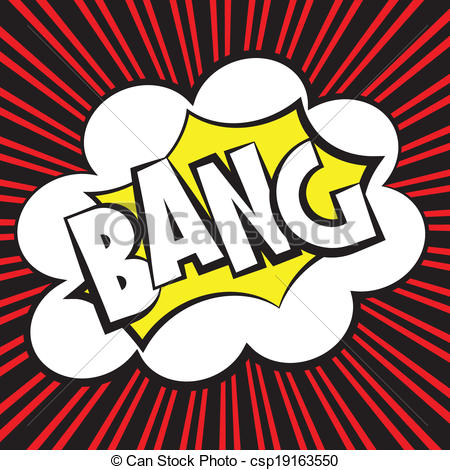 Clipart Vector of Bang comic, Vector illustration comic style.