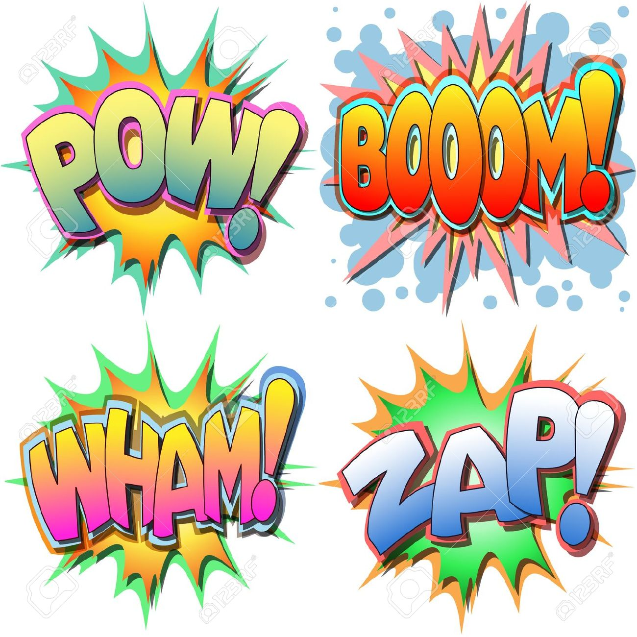 Superhero Signs • Boom, Pow, Zap, Bam, Pop • 8.5 x 11 • PRINTED.