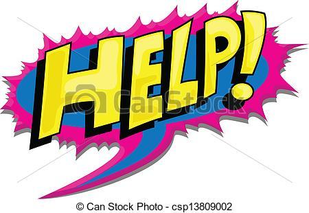 Vector Clipart of Help.