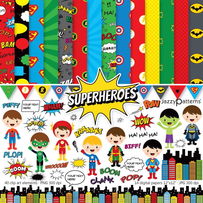 Comic style clipart.
