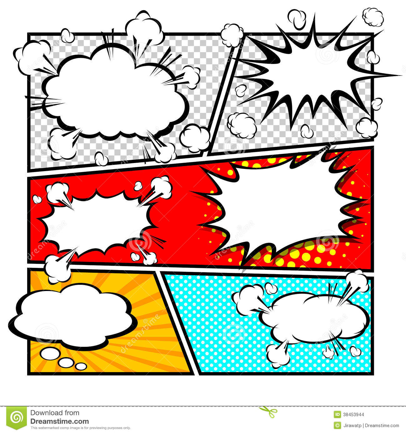 Comic Template Vector Stock Images.