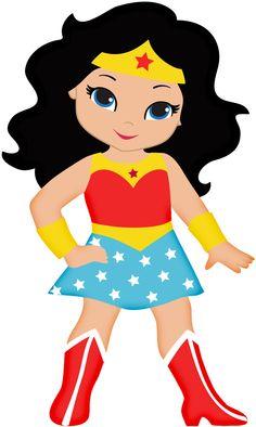 Super Girls, comic girl, super girl, superhero clipart & printable.