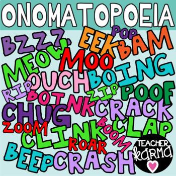 Onomatopoeia Clipart, Comic Sound Words.