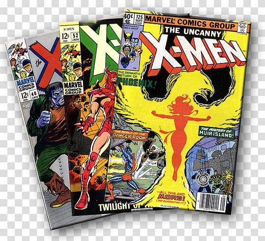 Comic Book Lover X men, three Marvel Comics Group X.