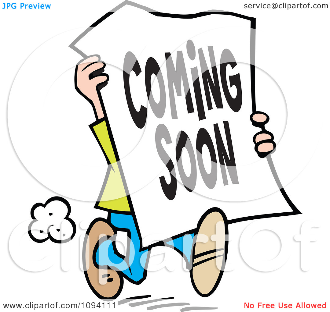 Clipart coming soon sign.