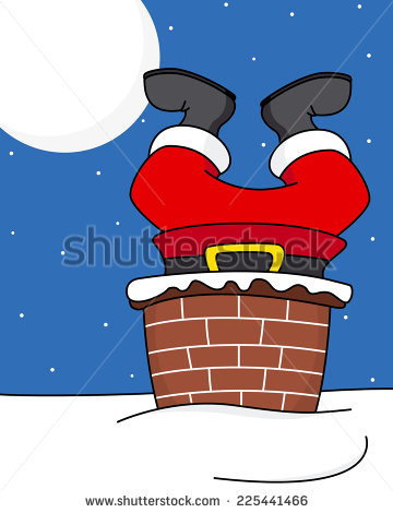 Showing post & media for Cartoon santa coming down the chimney.