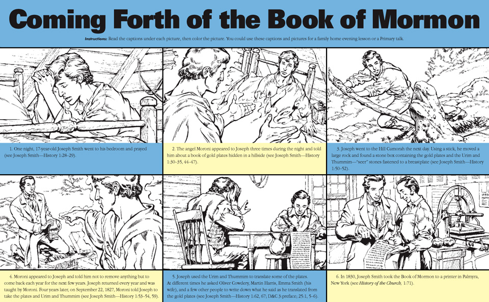 Book Of Mormon Coloring Pages.