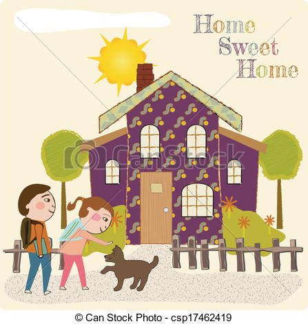 Coming Home Clipart.