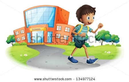 Going To School Stock Images, Royalty.