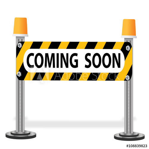 clip art of coming soon sign.