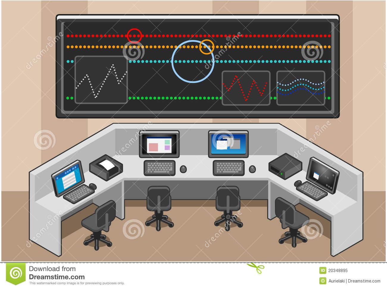 Command Center Stock Illustrations.