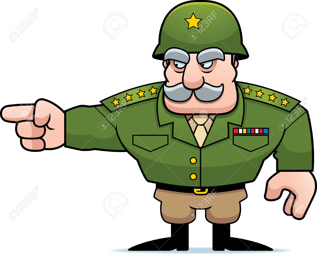 Army Commander Clipart.