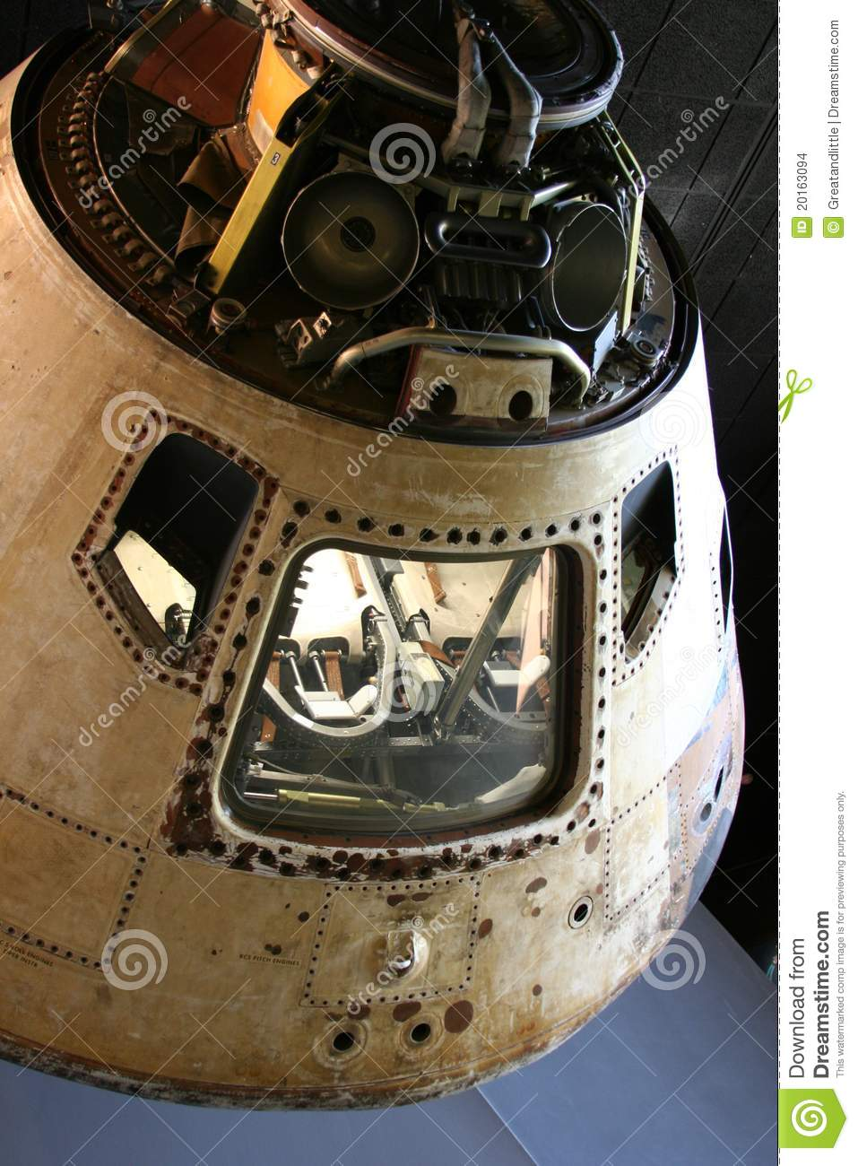 Apollo 11 Command Module Editorial Stock Image.