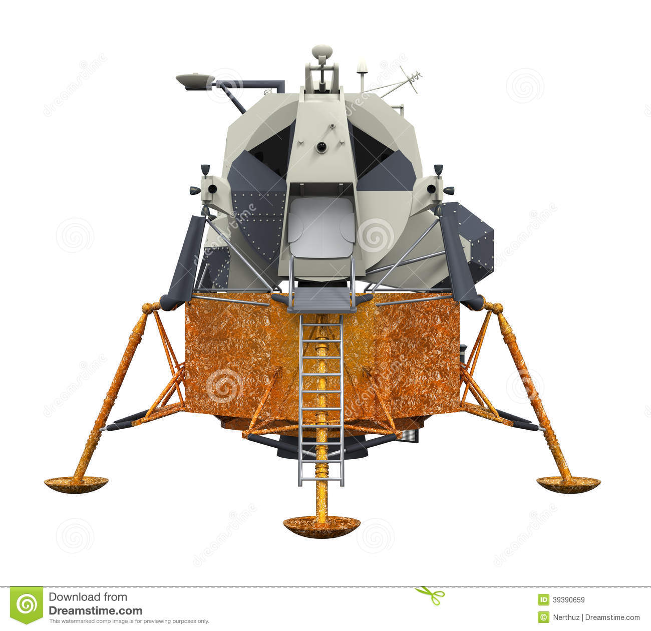Apollo Lunar Module Stock Illustration.