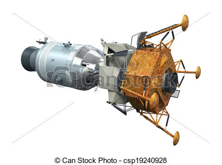 Apollo Command Module Clip Art.