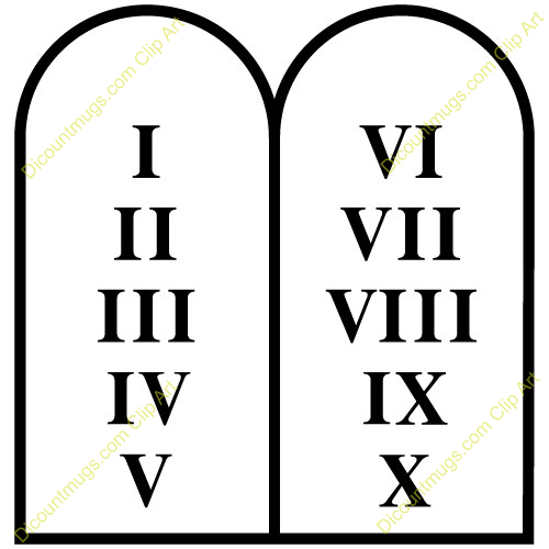 Ten Commandments Tablets Clipart.