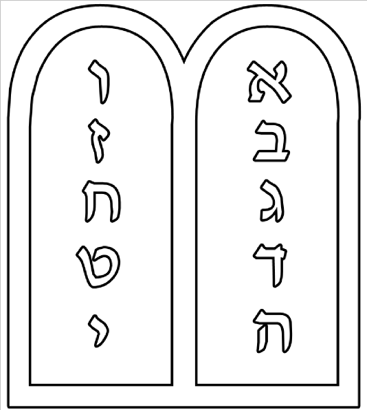 Ten Commandments Outline Clip Art at Clker.com.