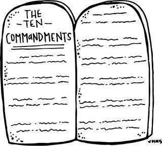 Ten commandments clipart lds.