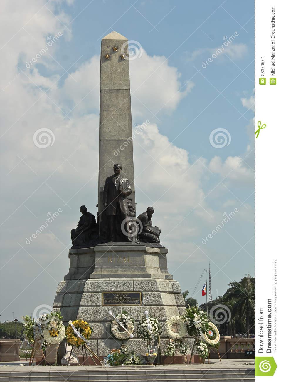 Rizal Shrine In Luneta During Rizal Day Editorial Photography.