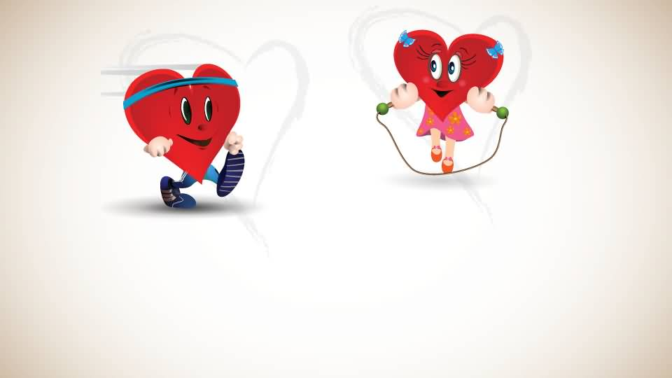 Commemorating World Heart Day Boy Heart And Girl Heart Clipart.