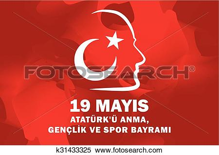 Clipart of May 19 Ataturk Commemoration and Yo k31433325.