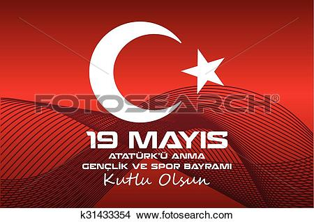 Clipart of May 19 Ataturk Commemoration and Yo k31433354.