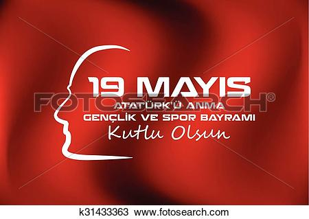 Clipart of May 19 Ataturk Commemoration and Yo k31433363.